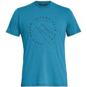 SALEWA Alta Via Dri-Release Camiseta Manga Corta Hombre, azul